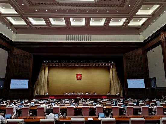 北京市人大常委会集会现场图 市人大常委会研究室供图