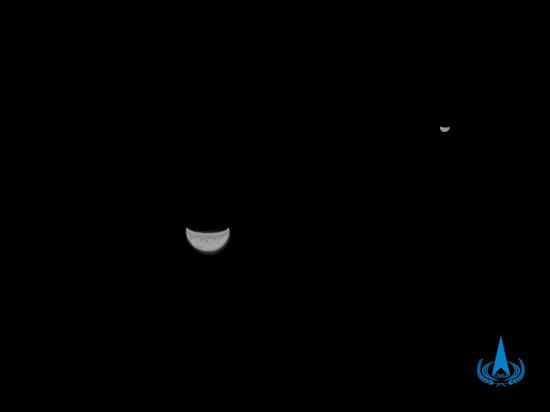 今天,天问一号奔火满月!它已飞离地球900万公里