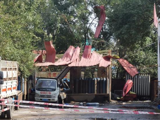 哈尔滨香坊区一工业气体充装站发生爆炸 致2死1伤图片