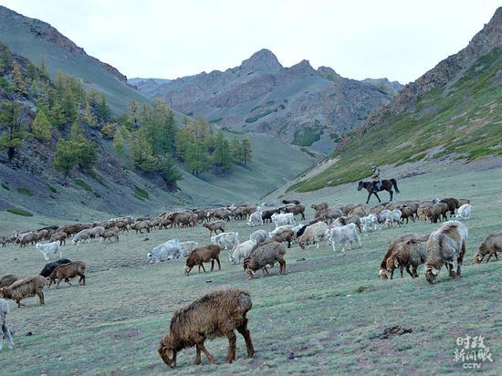 △位于中蒙疆域的兵团第六师北塔山牧场,是一个以畜牧业为主的团场。2018年北塔山牧场团体脱贫摘帽。