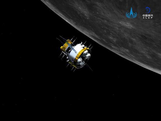 嫦娥五号探测器对接组合体成功分离 进入环月准备阶段 将择机返回地球图片