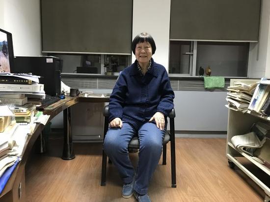 2018年2月27日,张弥曼在北京的办公室接受记者专访。新华社记者屈婷 摄