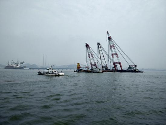 广州海事部门现场组织搜寻救助