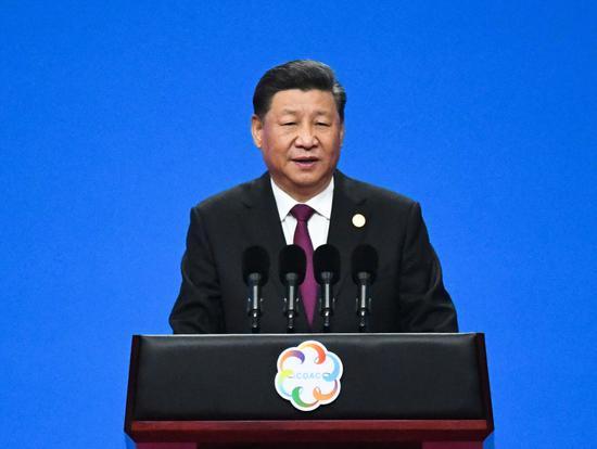 2019年5月15日,习近平出席亚洲文明对话大会开幕式并发表主旨演讲。新华社记者饶爱民摄
