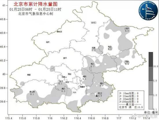 北京最大降雪落在通州 明天刮4级风图片