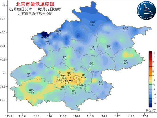 北京春节期间气温先升后降,中间有场雪图片