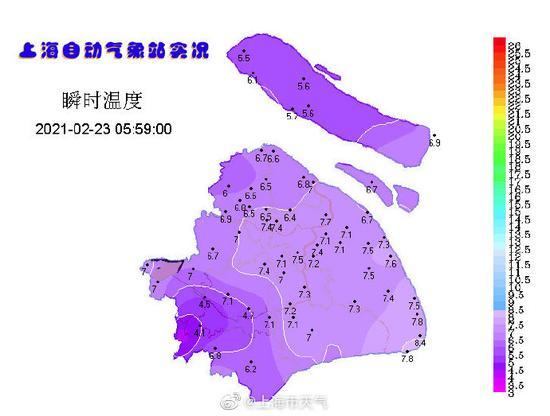 上海市气象局:昨日气温创近一百年2月下旬同期最高图片