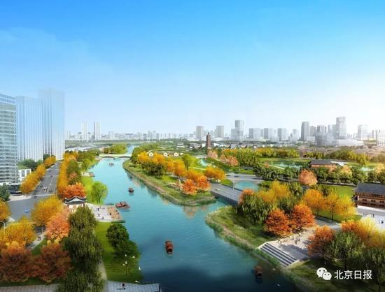 通惠河故道示意图(由西向东看)