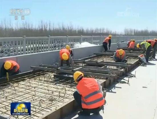 京津冀立体交通网多个重点工程复工图片