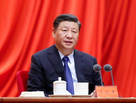↑2021年2月20日,党史进修教诲发动大会在北京召开。习近平出席集会并揭晓主要发言。