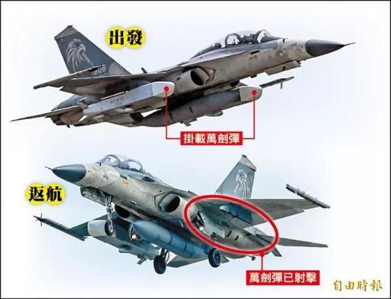 """""""万剑弹""""由IDF战机搭载发射(图片来源:台湾《自由时报》)"""