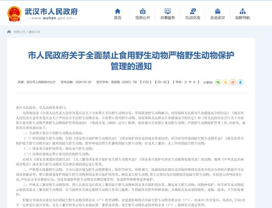 定了武汉全面禁止食用野摩天代理生动物,摩天代理图片