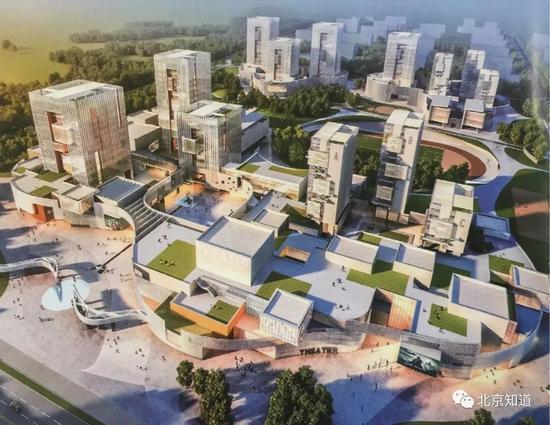 北影新校区整体规划图。来源:怀柔文化产业发展研究中心官网
