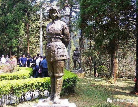 伍若兰烈士塑像(来源:网络)