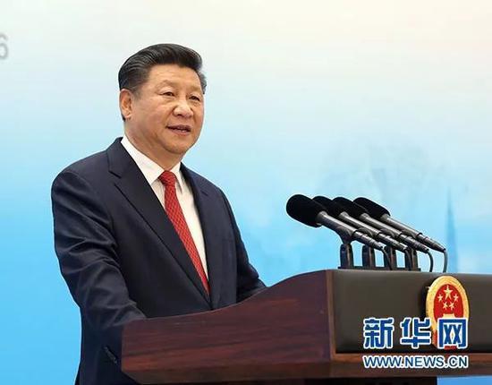 2016年9月3日,国家主席习近平在杭州到会2016年二十国集团工商峰会开幕式,并宣布题为《我国开展新起点 全球增加新蓝图》的宗旨讲演。新华社记者 马占成 摄