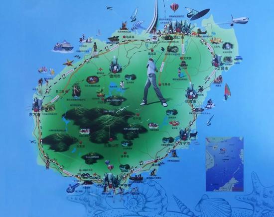 △国际旅游岛旅游项目图