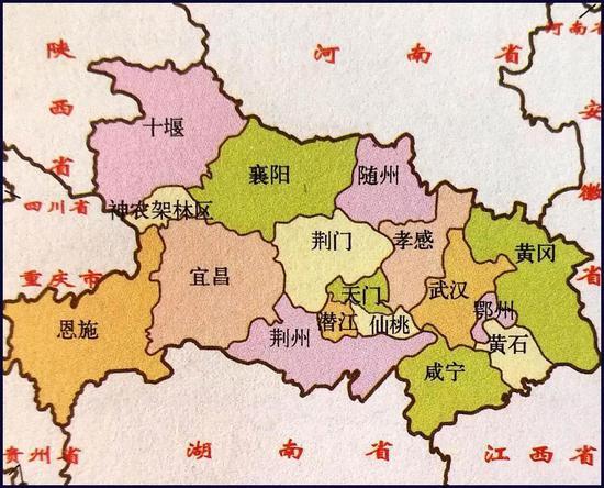 武汉周边地区地图