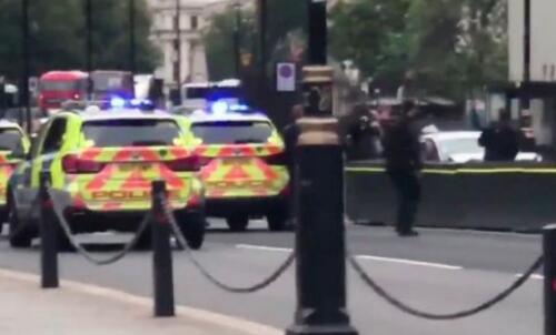 男子驾车冲撞英国议会大厦外安全护栏 遭警方逮捕