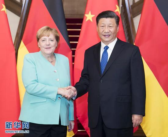 9月6日,国度主席习远仄正在北京会晤默克我