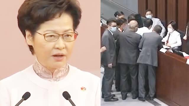 反对派阻挠香港教材编制大闹立法会 林郑月娥发文痛斥