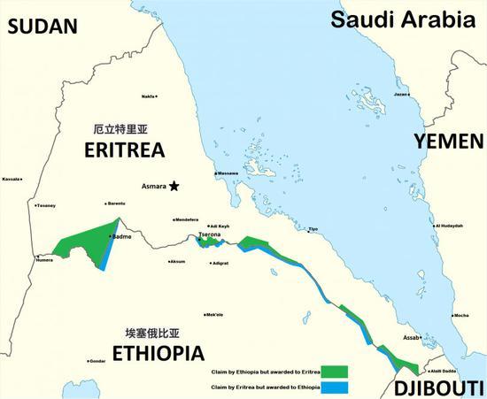 厄立特里亚与埃塞俄比亚边境争端 图源:外媒
