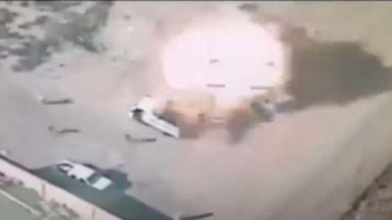 """资料图:伊拉克政府军使用中国造无人机摧毁""""伊斯兰国""""目标。"""