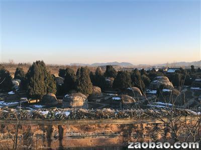 1月12日,唐山遵化市,清东陵景陵妃园寝全貌。2015年10月底,景陵妃园寝被盗。(图片来源:新加坡《联合早报》网站)