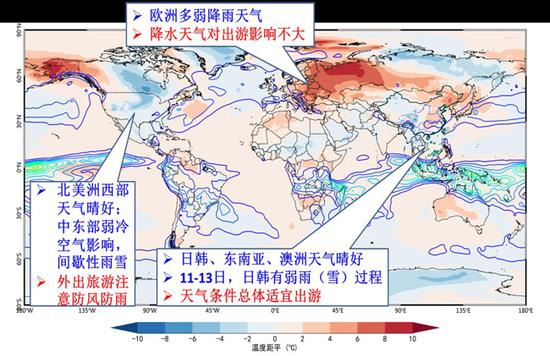 国外天气趋势预报