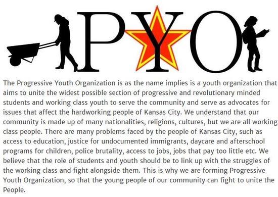 美國青年組織示威反對特朗普 打出毛主席語錄(圖)2