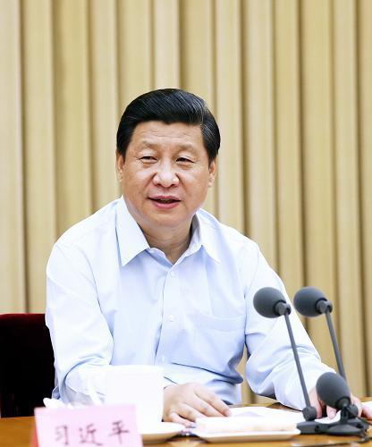 图为:2013年6月28日,中共中央总书记、国家主席、中央军委主席习近平在全国组织工作会议上发表重要讲话。