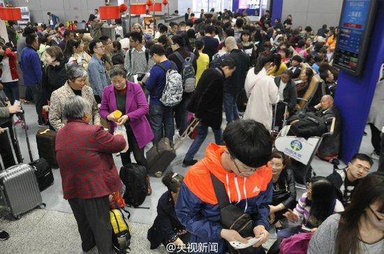 游客停留机场