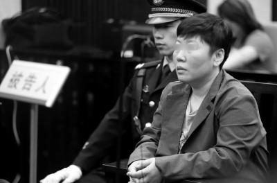李某出庭受审。 京华时报记者欧阳晓菲摄