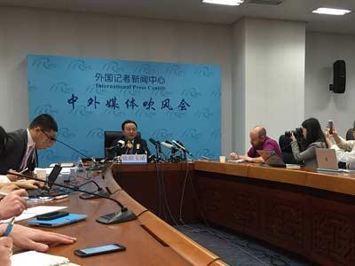 中国外交部举行媒体吹风会
