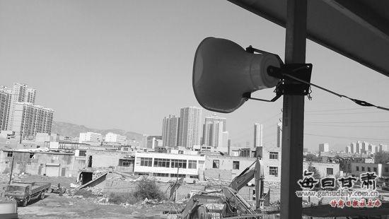 秀川街道办架设的高音喇叭。