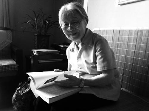 2012年7月杨绛在三里河寓所。人民文学出版社供图