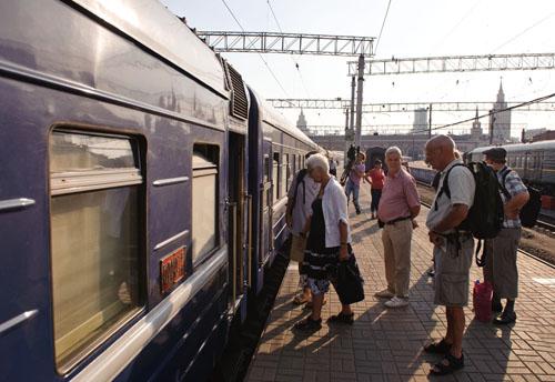 资料图片:俄罗斯首都莫斯科的火车站。 新华社记者姜克红摄