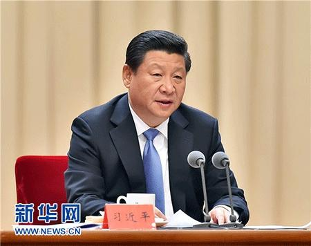 2014年10月8日,中共中央总书记、国家主席、中央军委主席习近平在党的群众路线教育实践活动总结大会上发表重要讲话。 新华社记者 李涛 摄