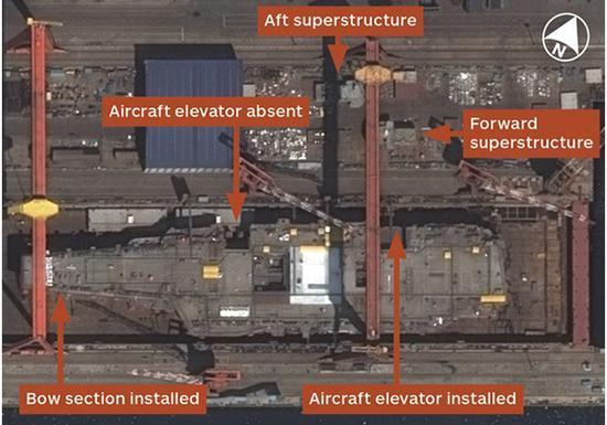 简氏防务周刊称大发一分pk10首艘国产航母001A即将竣工
