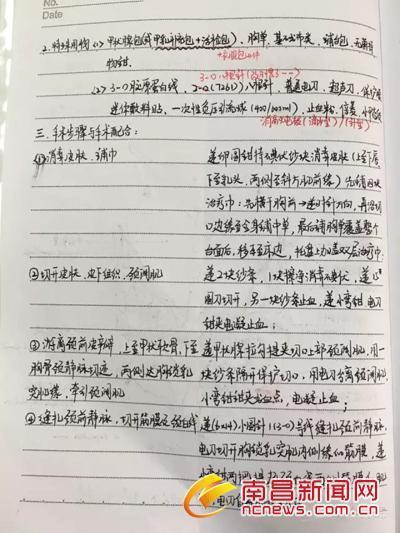字迹工整手绘解剖图