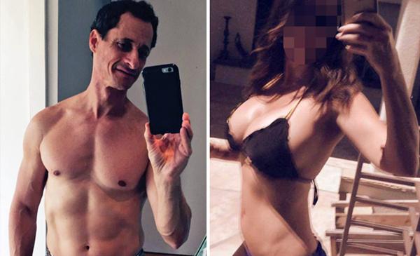 韦纳和众多女性互传性感照片与色情短信