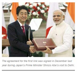 印度或与日本签订第二份高铁建造合同