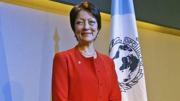 INTERPOL法国籍主席Mireille Ballestrazzi回函表示,无法正面回应台湾盼以观察员身分出席INTERPOL大会的申请。(美联社)