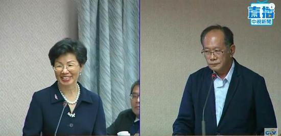 被问中共七常委都有谁 台湾陆委会主委答不出