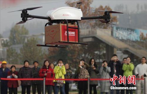 无人机送货进入实际应用。