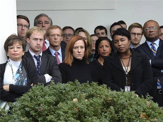 特朗普奥巴马会晤 白宫群英生气照走红网络(图)