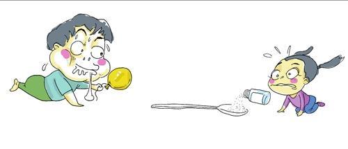 孩子乱吞食物  漫画
