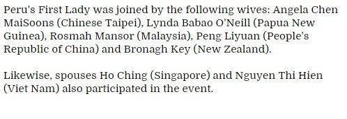 宋楚瑜出席APEC被误当梁振英 女儿成妻子