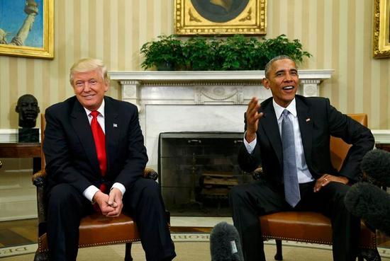 特朗普首次披露白宫会谈:我真的很喜欢奥巴马