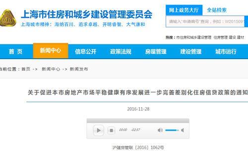上海天津楼市调控再升级 认房又认贷打击炒房客 新闻