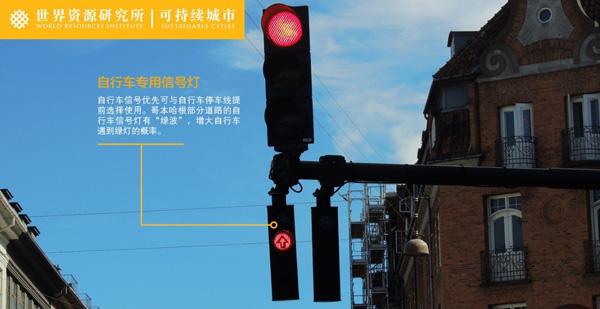 自行车专用信号灯。